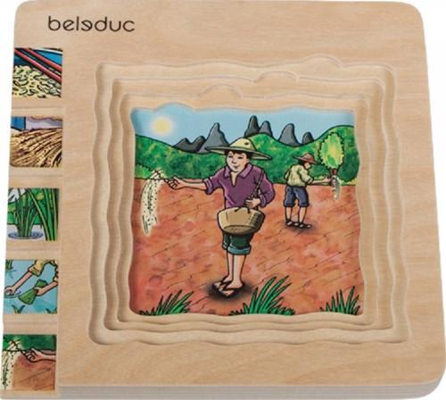 Beleduc  houten lagenpuzzel Rijst