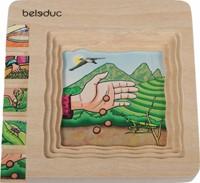 Beleduc  houten lagenpuzzel Thee-1