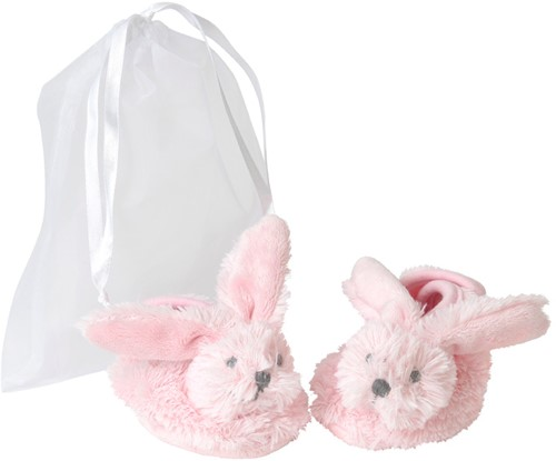 Happy Horse Pink Rabbit Richie Slippers in organza bag