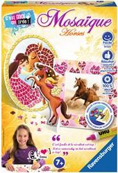 Ravensburger knutselspullen Mosaique Paarden
