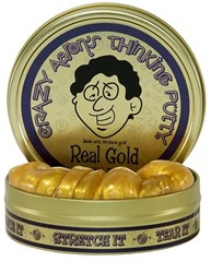 Crazy Aaron's putty Gelt with Real Gold