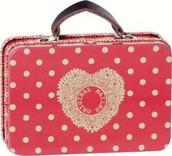 Maileg Metal Suitcase, Melon, Big dots