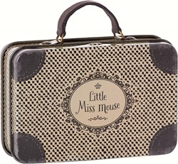 Maileg Metal Travel Suitcase, Little Miss Mouse