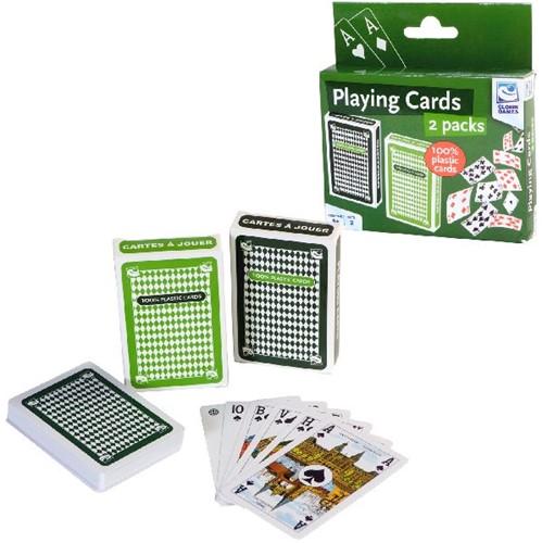 Clown Speelkaarten 100% Plastic Set 2
