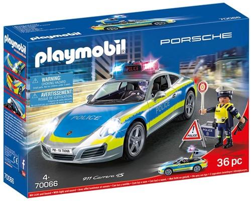 Playmobil Porsche - Porsche 911 Carrera 4S Politie - wit 70066