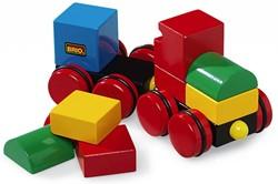 Brio  houten bouwblokken Magnetische stapeltrein 30124