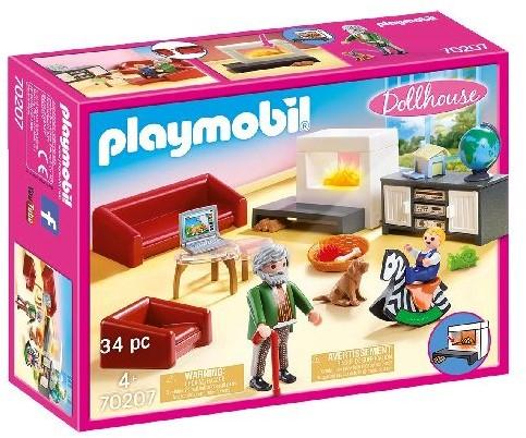 Playmobil Dollhouse - Huiskamer met openhaard 70207