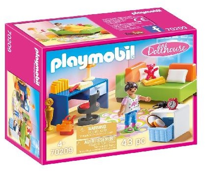 Playmobil Dollhouse - Kinderkamer met bedbank 70209