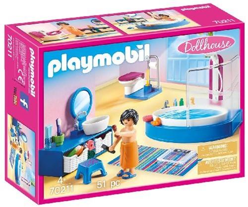 Playmobil Dollhouse - Badkamer met ligbad 70211