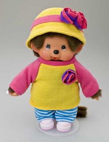 Monchhichi  knuffelpop kleren Boutique A Geel/roze shirt met-3