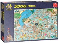 Jumbo  Jan van Haasteren legpuzzel Tropisch Zwemmen 3000 stuks