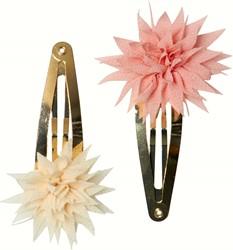 Maileg 2 pcs, Dahlia Flower Clips, Vanilla &Melon, 2 pcs