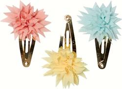 Maileg 3 pcs, Mini, Dahlia Flower Clips, Tricolor Summer