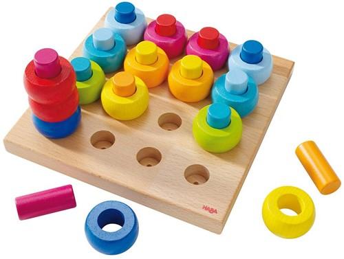 Haba houten vormenpuzzel Kleurenringen 2202-1