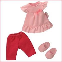 Corolle  Les Cheries poppen kleding Pyjama met slofjes W0529
