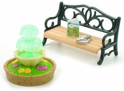 Sylvanian Families  accessoires Bench & fountain 2243