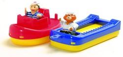 Aquaplay badspeelgoed Sleepboot+schuit+2 poppetjes