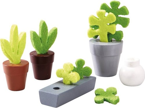 Haba  Little Friends poppenhuis accessoires Bloemen en Planten-1