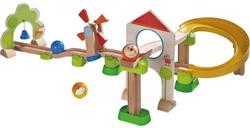 Haba houten knikkerbaan set Rollebollen Basisdoos Windmolenbaan
