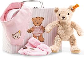 Steiff baby Gift set Girl, beige/pink - 24cm
