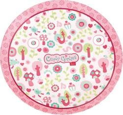Sigikid  kinderservies melamine bord Curly Girlies 24269