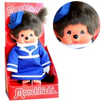 Monchhichi  knuffelpop Meisje Stewardess - 20 cm-2