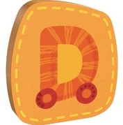 Haba  decoratie houten letter D