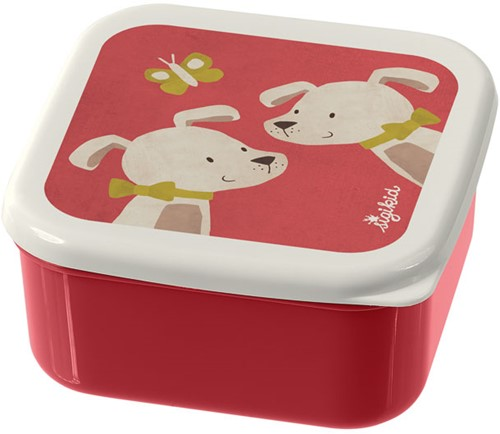 sigikid 3 snack boxes dog, The little ones 24986