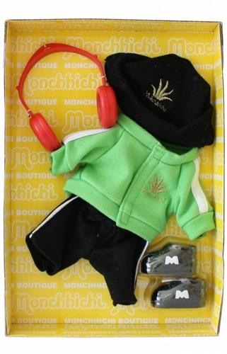 Monchhichi knuffelpop kleren Boutique B DJ Style Groen