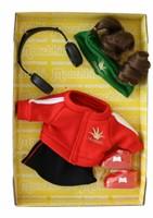 Monchhichi  knuffelpop kleren Boutique B DJ Style Rood-1