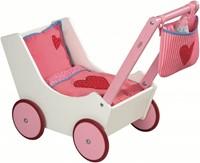 Haba  Lilli and friends poppen accessoires Poppenwagen met tas en zuigfles 2660-1