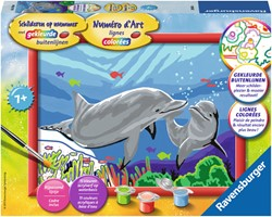 Ravensburger Schilderen op nummer Dolfijnen