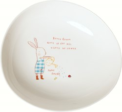 Maileg Bunny Green Melamine bowl