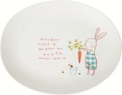 Maileg Bunny Green Melamine plate