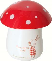 Maileg Bunny Honey Melamine cup w/ eggcup/lid