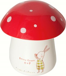 Maileg Bunny Green Melamine cup w. eggcup/lid