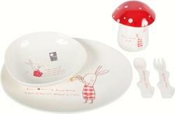 Maileg Bunny Honey Melamine set, 6 parts