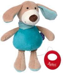 sigikid blauwe collectie muziekknuffel hond pastel 41855