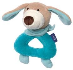 sigikid blauwe collectie grijpspeeltje hond pastel 41856