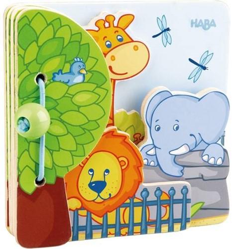 Haba  houten babyboek Zoovrienden 300129-1