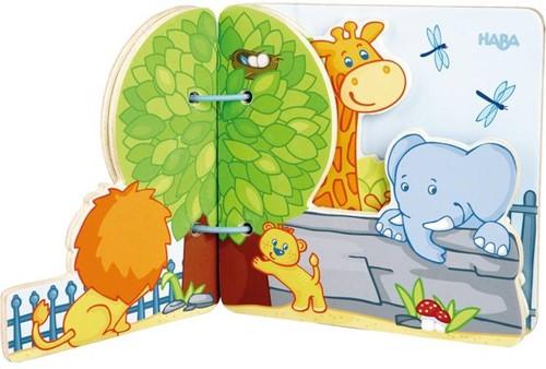 Haba  houten babyboek Zoovrienden 300129-2
