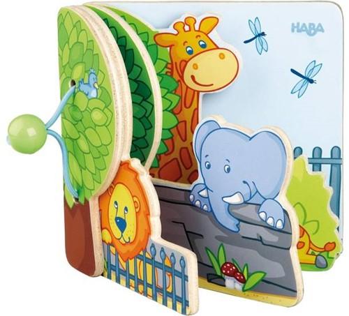 Haba  houten babyboek Zoovrienden 300129-3