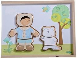 Haba houten vormenpuzzel Kinderen van de wereld 300140