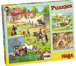 Haba  legpuzzel Puzzel De Manege  - 3 x 48 stukjes