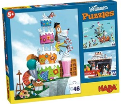 Haba  legpuzzel Puzzel Leo Timmers - Meneer Rene  - 3 x 48 stukjes