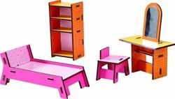 Haba  Little Friends houten poppenhuismeubels Villa Zonneschijn