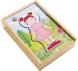 Haba  houten vormenpuzzel Lilli's lievelingskleren 301060
