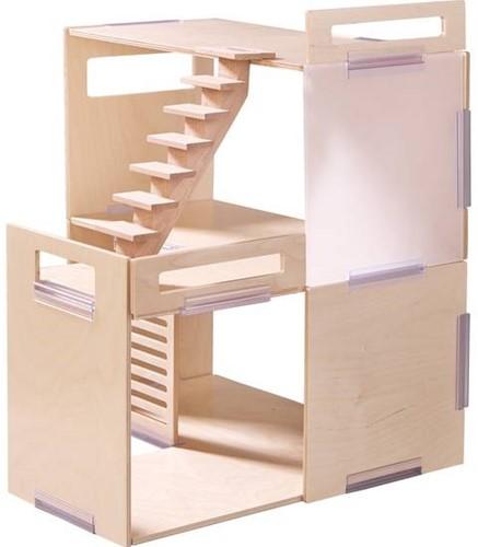 Haba  Little Friends houten poppenhuis Villa Lenteochtend 301781-2