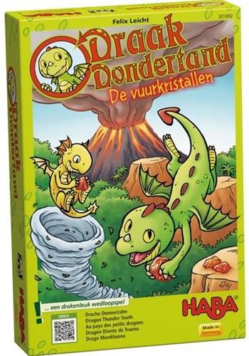 HABA Spel - Draak Dondertand - De Vuurkristallen-1