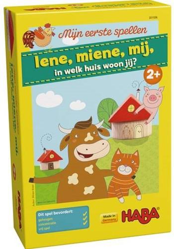 HABA Spel - Mijn eerste spellen - Iene, miene, mij, in welk huis woon jij?-1